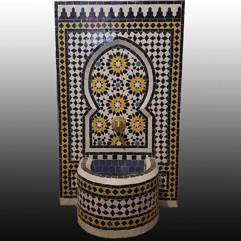 Moroccan Tazia Mosaic Fountain, All Handmade 4