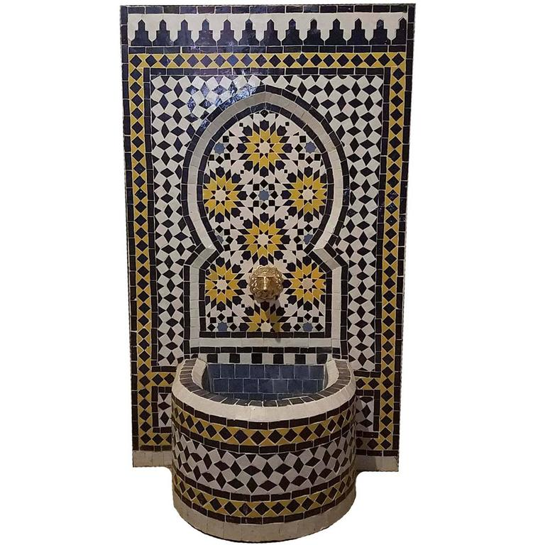 Moroccan Tazia Mosaic Fountain, All Handmade 5
