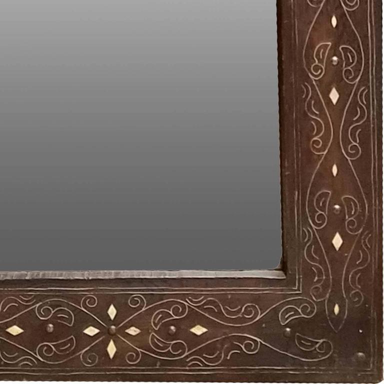 Camel Bone Arched Mirror, Cedar Frame at 1stdibs