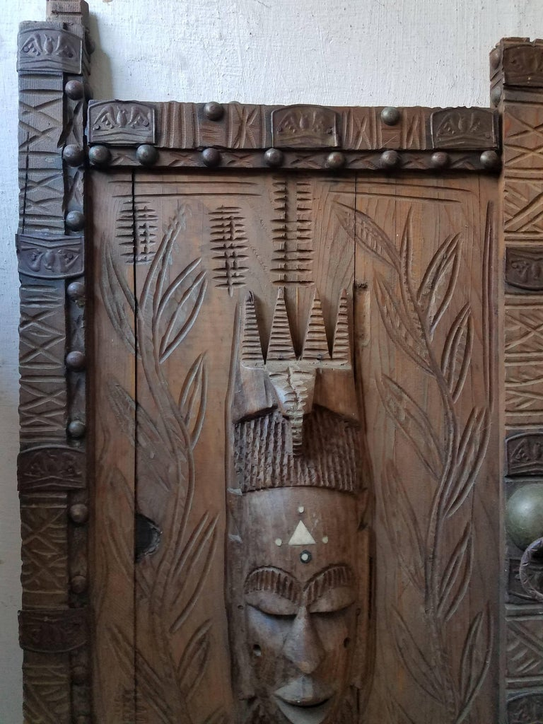 Vintage African Wooden Wall Hanging