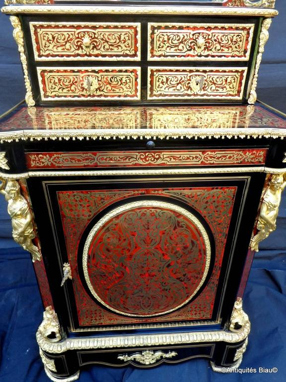 luxury french cabinet in boulle marquetry 19th century. Black Bedroom Furniture Sets. Home Design Ideas