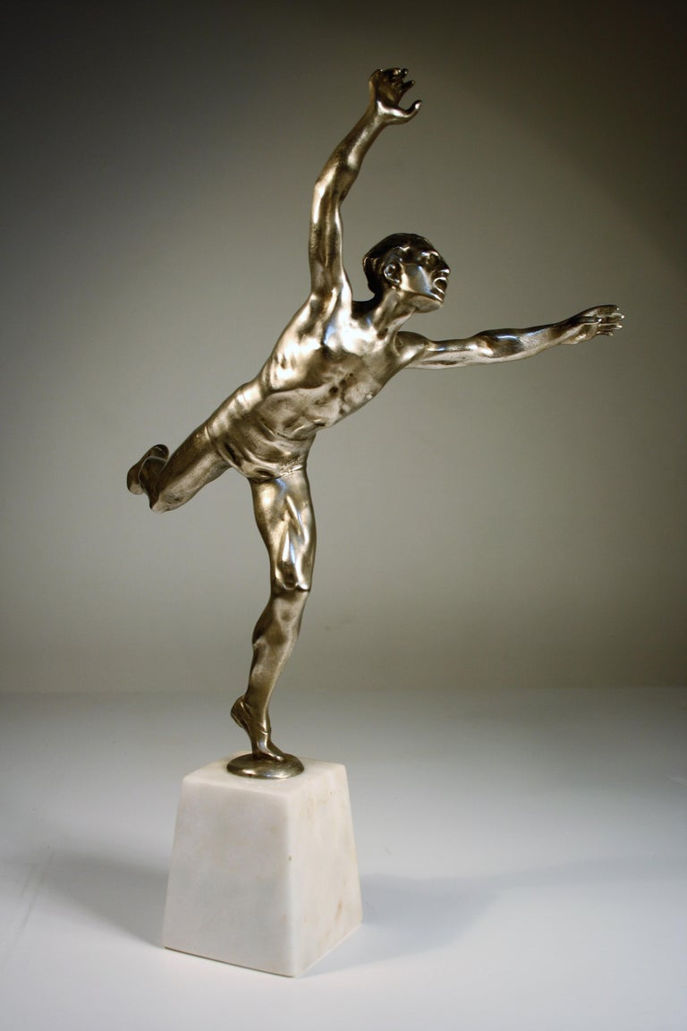 Alfred Boucher Silvered Bronze, Late 19th Century For Sale 2