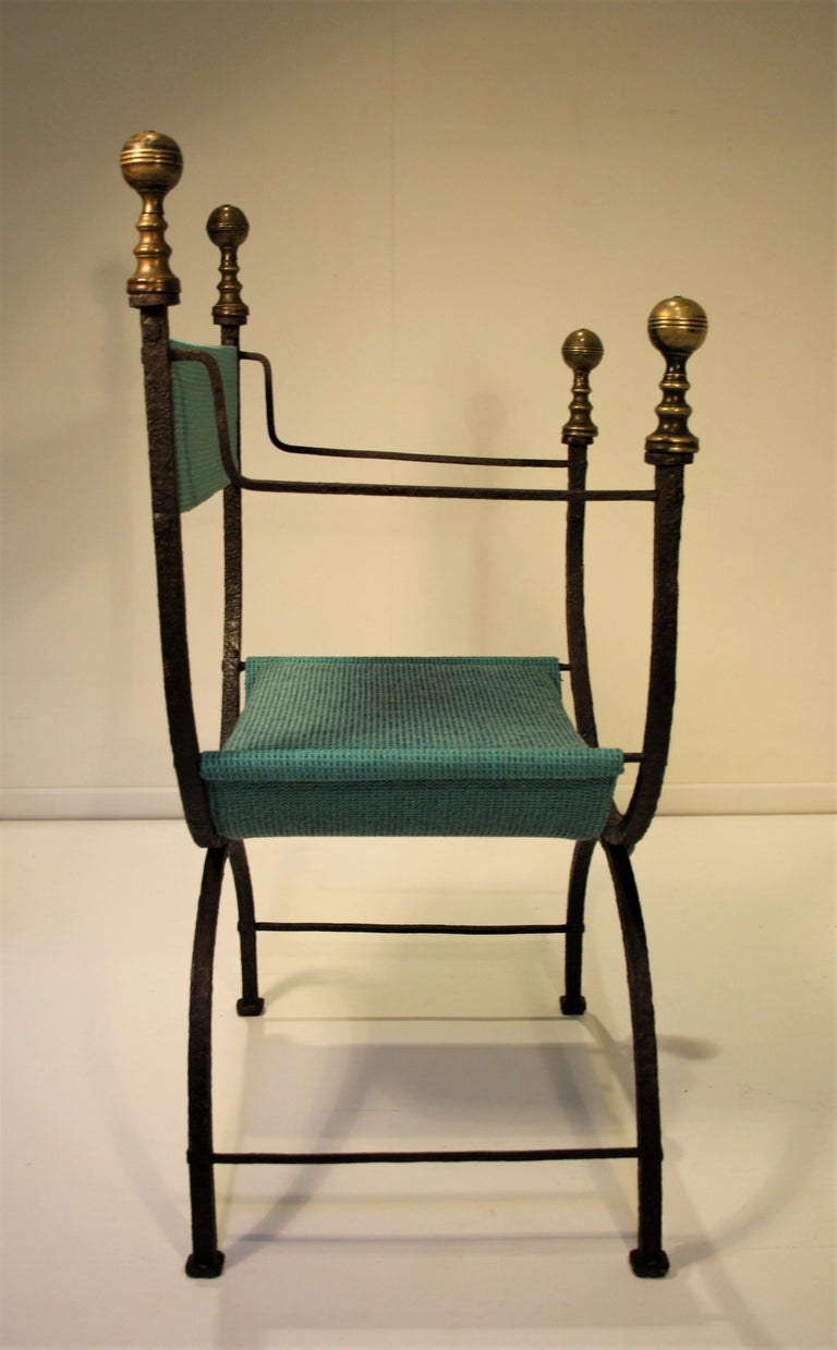 French 17th Century Curule Chair For Sale