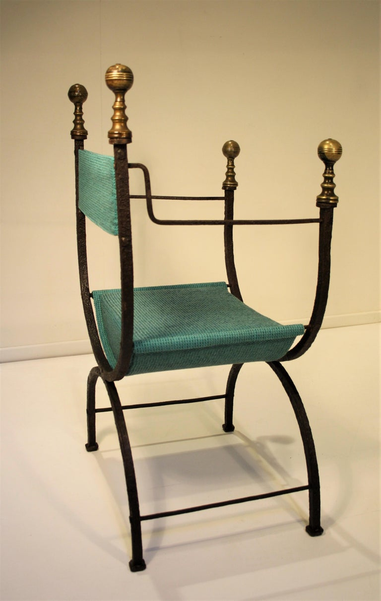 17th Century Curule Chair In Good Condition For Sale In Belgium, BE