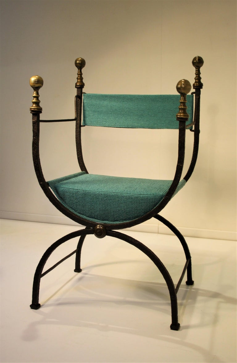 17th Century Curule Chair For Sale 3
