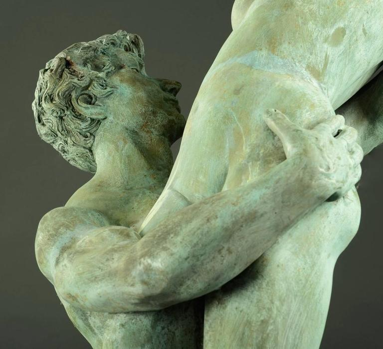 Very Large Italian Garden Sculpture, Patinated Bronze, Early 20th Century For Sale 2