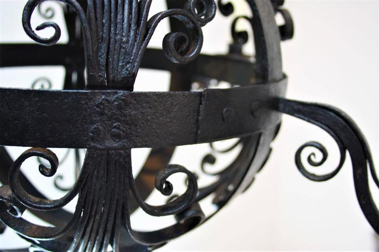 Early 19th Century Spanish Wrought Iron Chandelier For Sale 3
