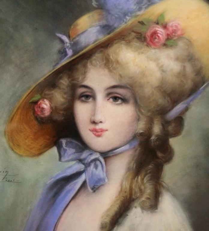 Belle Époque Portrait from Eugene Galien-Laloue of His Daughter, 1911 For Sale