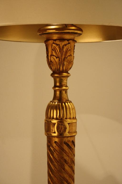 Early 20th Century Giltwood Floor Lamp from Alfred Chambon, 1920s For Sale