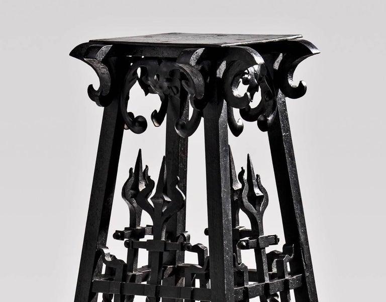 Belgian Unique Art Nouveau Pedestal by the Architect Paul Hankar For Sale
