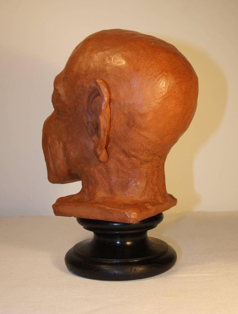 Caricature Sculpture in Terracotta, 1950s In Good Condition For Sale In Belgium, BE