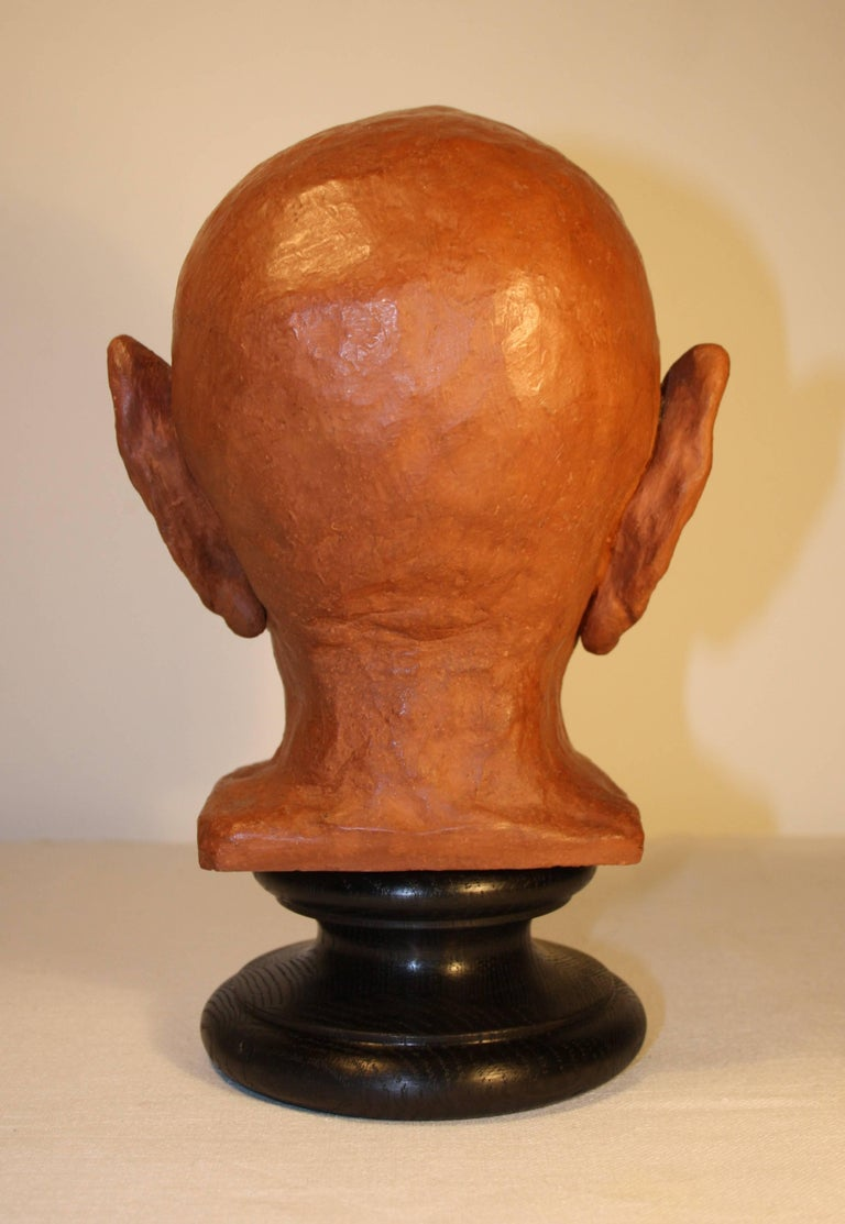 Mid-20th Century Caricature Sculpture in Terracotta, 1950s For Sale