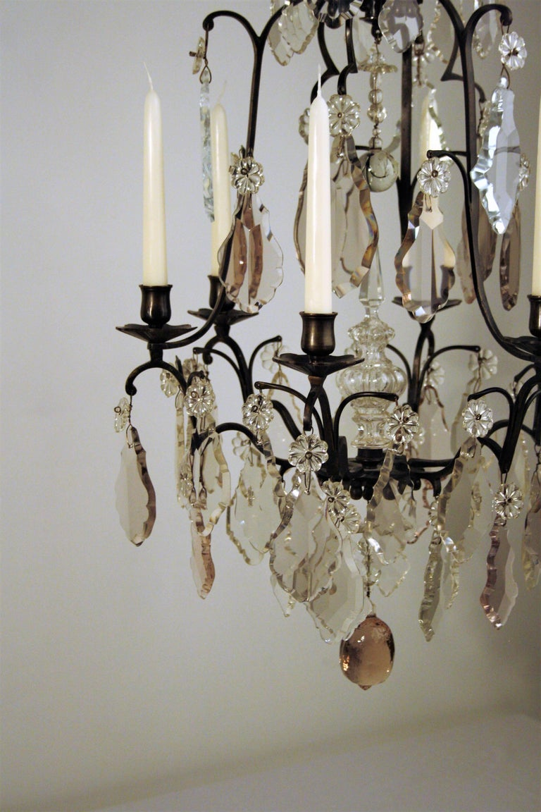 French 18th Century, Louis XV Period Crystal Chandelier For Sale