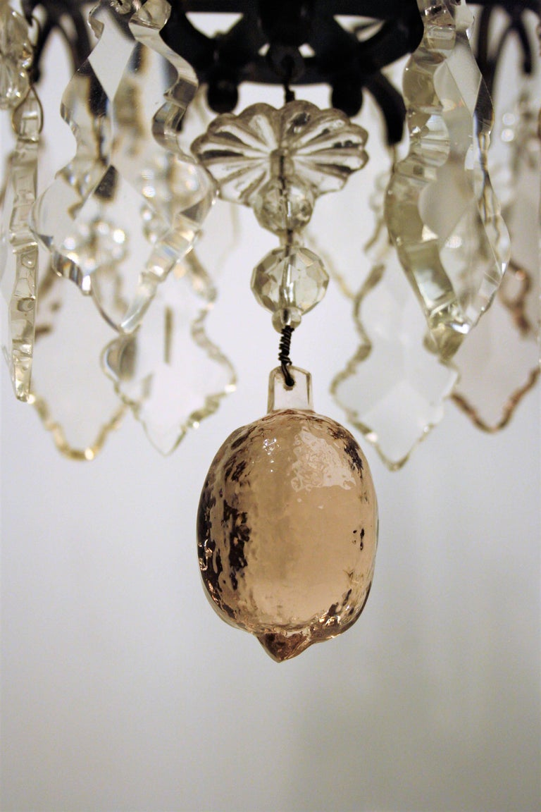 18th Century and Earlier 18th Century, Louis XV Period Crystal Chandelier For Sale