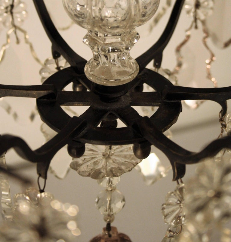 18th Century, Louis XV Period Crystal Chandelier For Sale 2