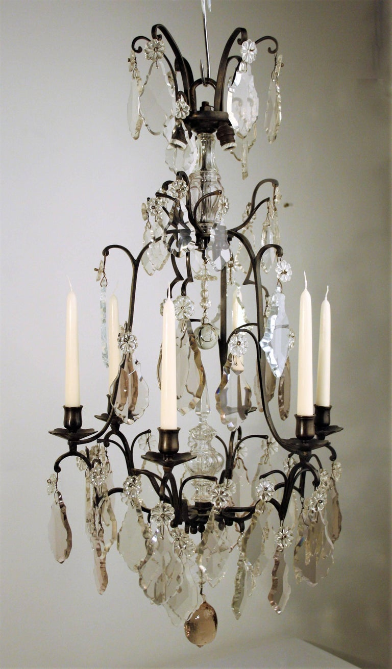 18th Century, Louis XV Period Crystal Chandelier For Sale 4