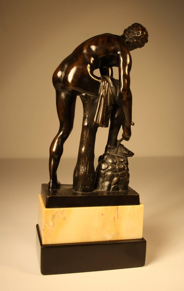 German 19th Century Bronze Sculpture of a Roman from Gladenbeck, Berlin For Sale