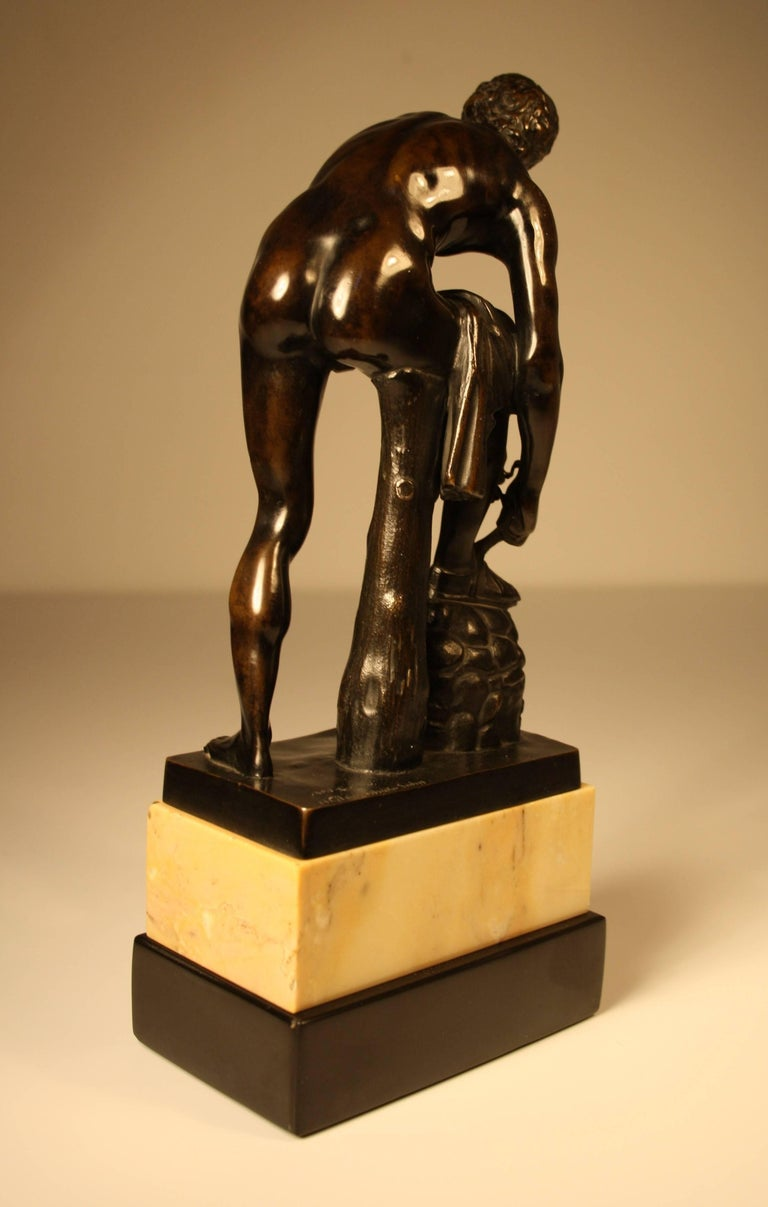 Patinated 19th Century Bronze Sculpture of a Roman from Gladenbeck, Berlin For Sale