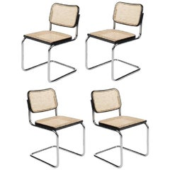 Set of Four Cesca Gavina Chairs by M. Breuer, 1965
