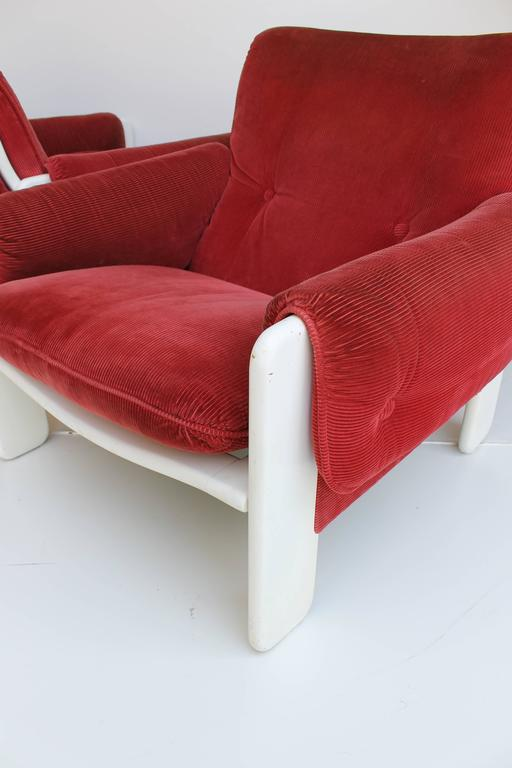 Mid-20th Century Sporting Lounge Chairs by Ammanati and Vitelli for Rossi di Albizzate For Sale