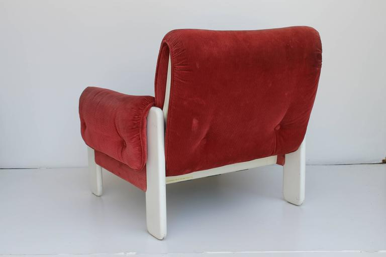 Mid-Century Modern Sporting Lounge Chairs by Ammanati and Vitelli for Rossi di Albizzate For Sale