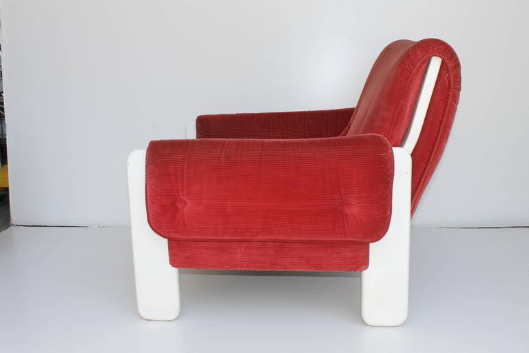 Italian Sporting Lounge Chairs by Ammanati and Vitelli for Rossi di Albizzate For Sale
