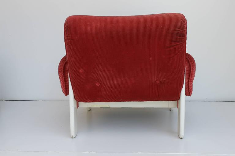 Lacquered Sporting Lounge Chairs by Ammanati and Vitelli for Rossi di Albizzate For Sale