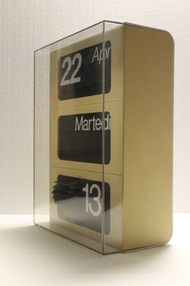 Dator 6041 Clock By Solari Udine For Sale At 1stdibs