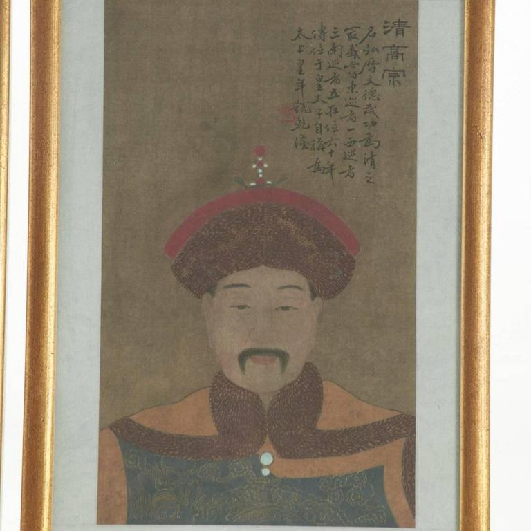 20th Century Eight Antique Chinese Ancestral Portraits, circa 1900 For Sale