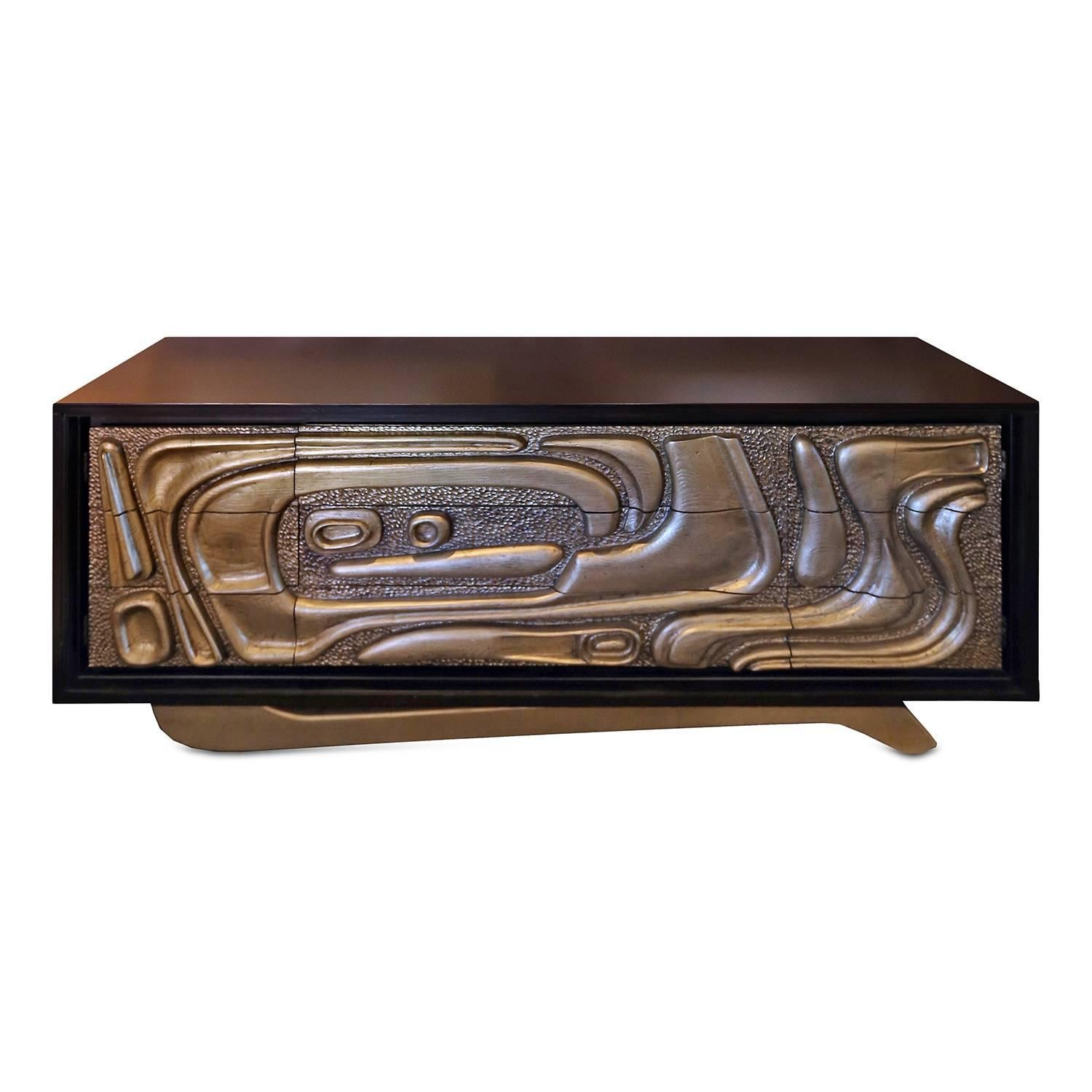 Reimagined Witco Oceanic Sculptural Credenza By Pulaski For At 1stdibs