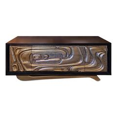 Reimagined Witco Oceanic Sculptural Credenza by Pulaski