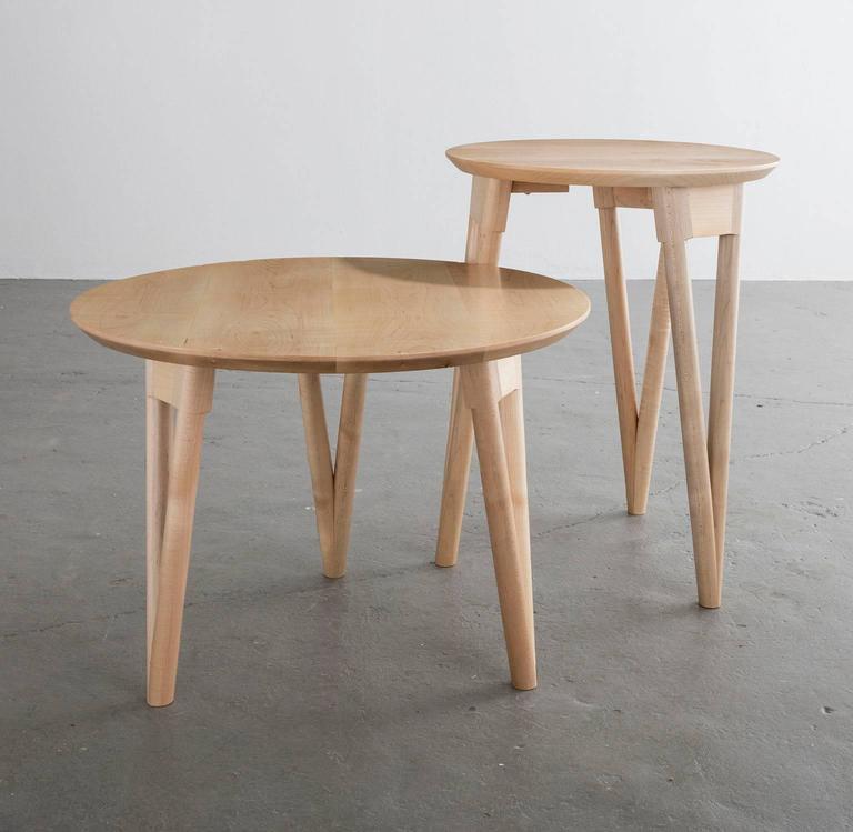 Hairpin Side Table, Maple Hardwood