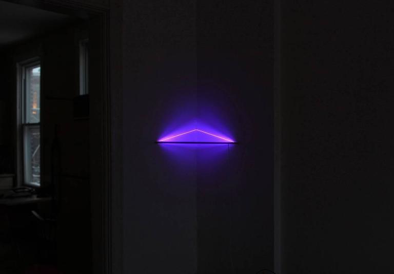 2010s UV Powder-Coated Aluminium Minimal Geometric Sculptural Wall Lamp Light Object For Sale