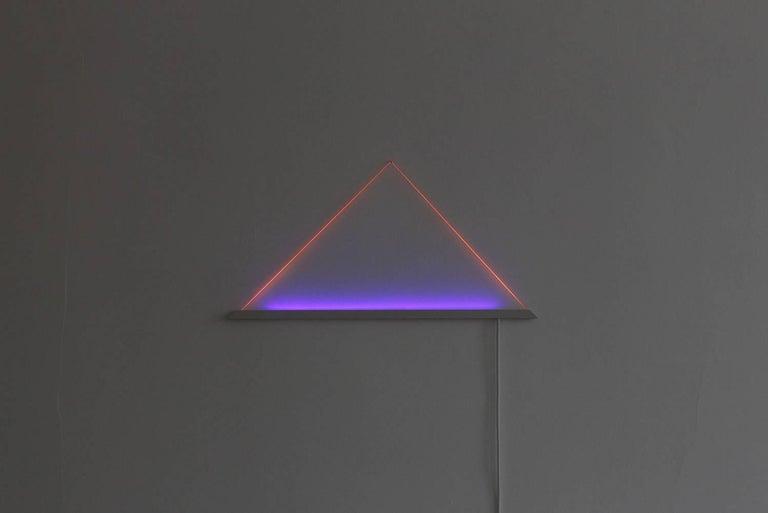 UV Powder-Coated Aluminium Minimal Geometric Sculptural Wall Lamp Light Object For Sale