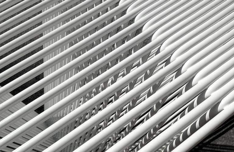 LOOP - Powder-Coated Steel Geometric Sculptural Side Table 3