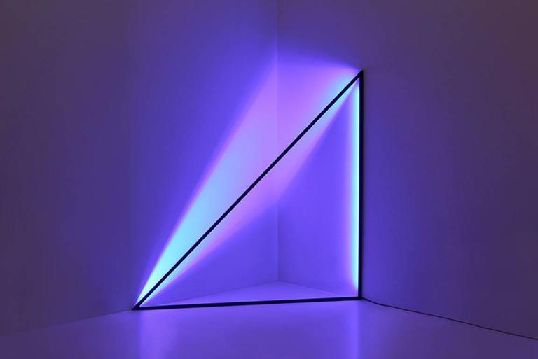 45 Powder Coated Aluminum Geometric Sculptural Floor Lamp