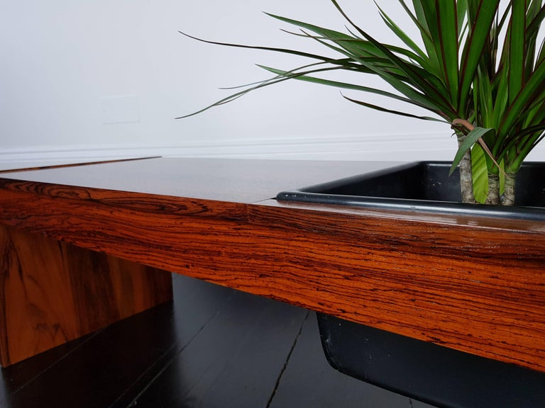 20th Century Vintage 1960s Danish Planter with Rosewood Veneer For Sale