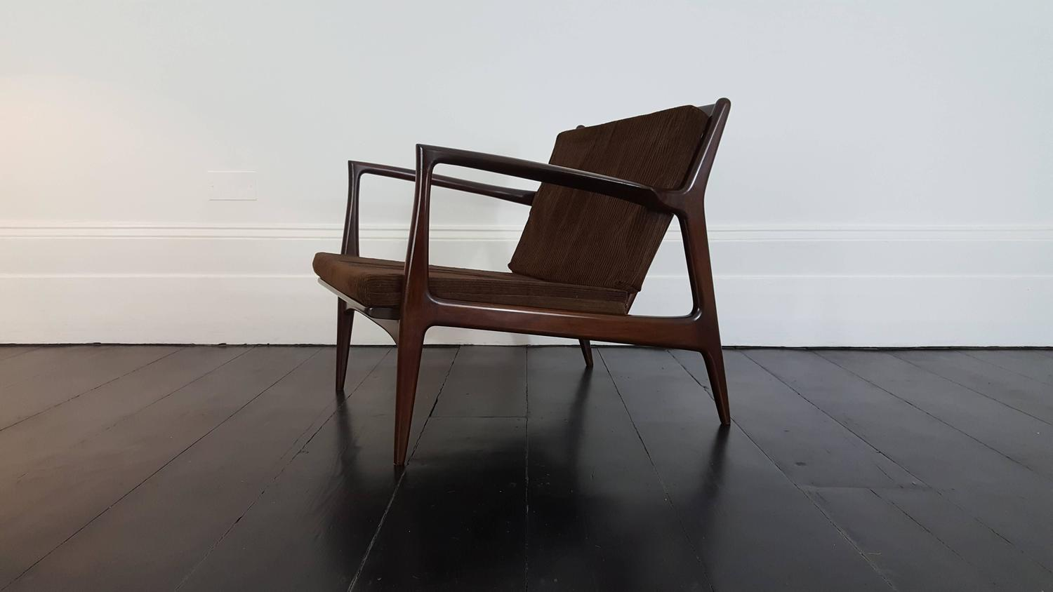 Vintage Mid Century Ib Kofod Larsen Lounge Chair For Selig For Sale At 1stdibs
