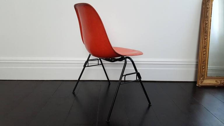 Vintage Charles and Ray Eames DSS Stacking Chairs for