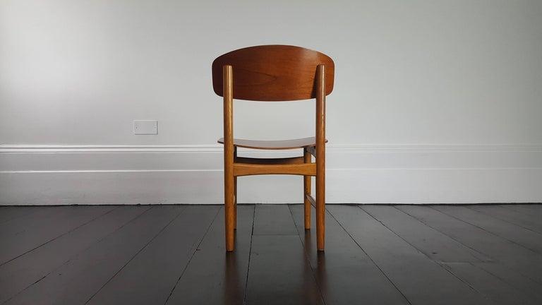 Model 122 Teak and Oak Dining Chairs by Børge Mogensen for Søborg, 1960s 3