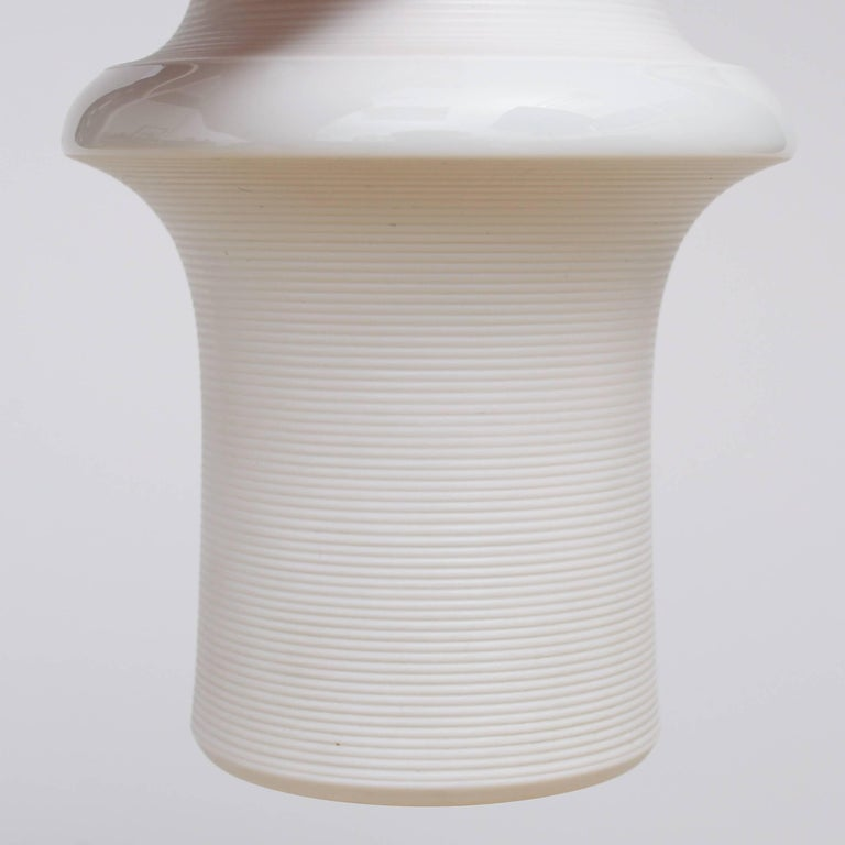 White-glazed porcelain vase, design Tapio Wirkkala, circa 1960,