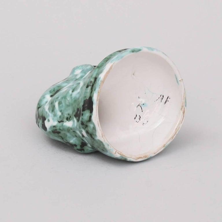 Glazed Art Deco Ceramic Chameleon by Hildo Krop For Sale