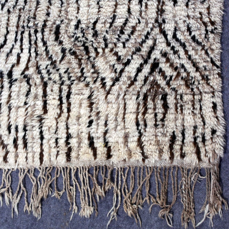 Wool Vintage Moroccan Berber Rug For Sale