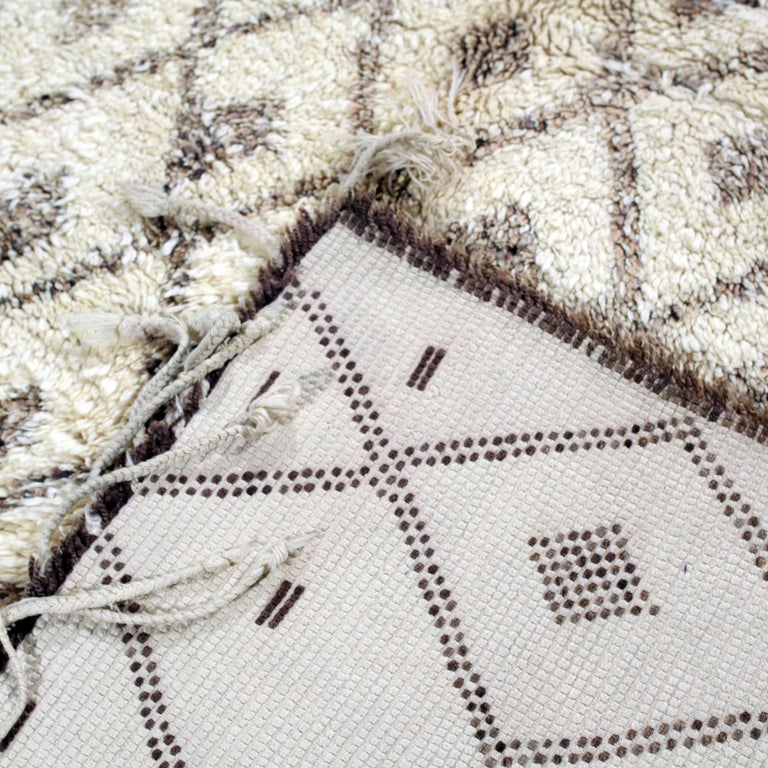 Late 20th Century Vintage Moroccan Berber Rug For Sale