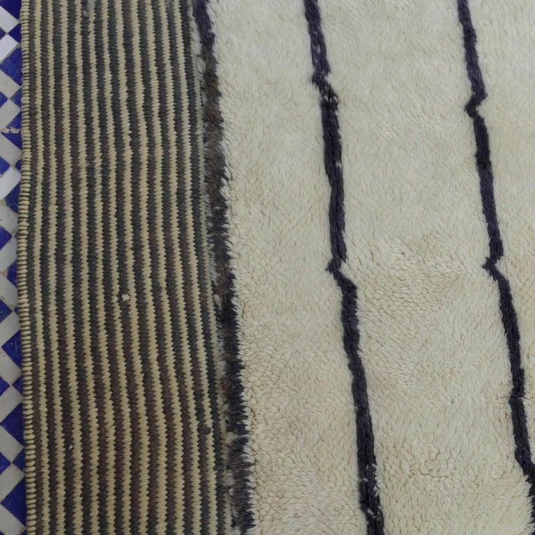 Organic Modern Moroccan Berber Rug For Sale