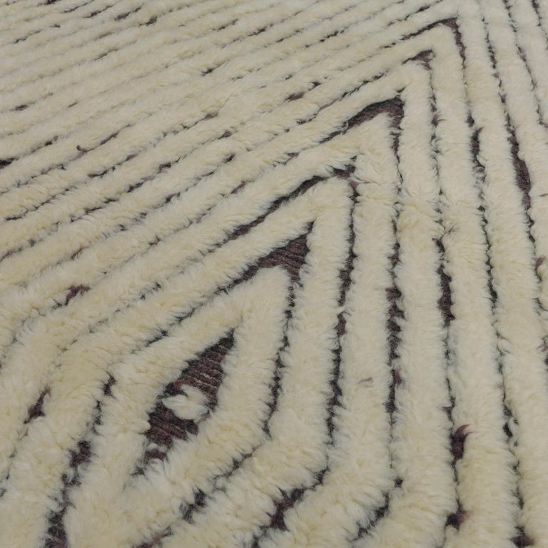 Hand-Knotted Moroccan Berber Rug For Sale