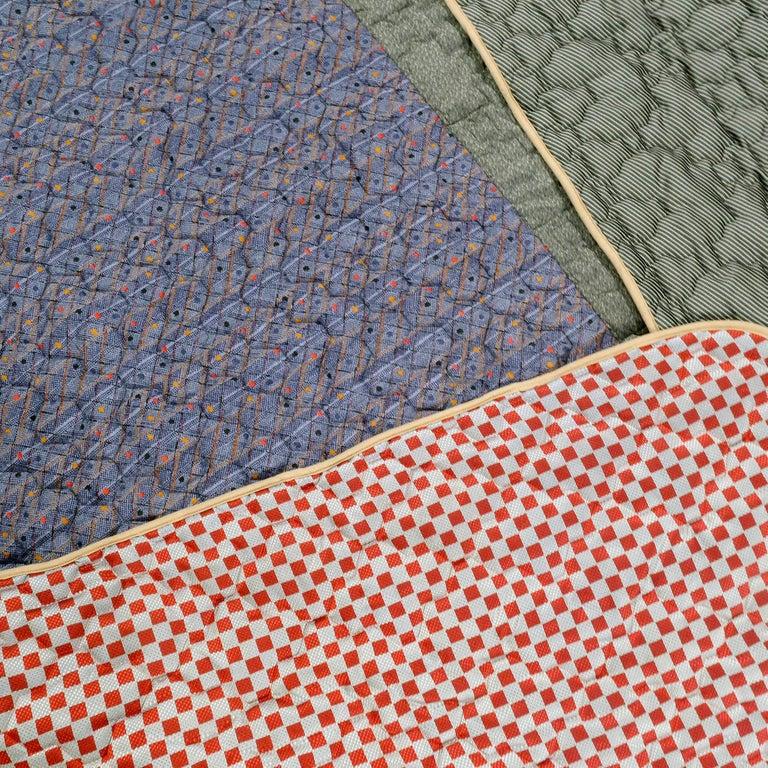 Piet Hein Eek Vintage Italian Silk Quilt Blanket For Sale 5