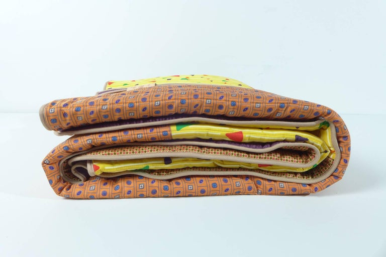 Piet Hein Eek Vintage Italian Silk Quilt Blanket For Sale 2