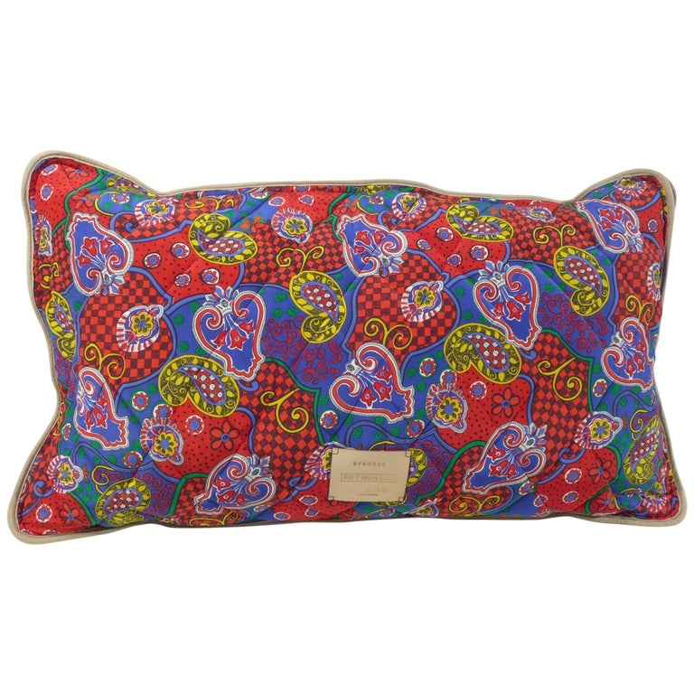 Quilted Silk Pillow Byborre and Piet Hein Eek For Sale