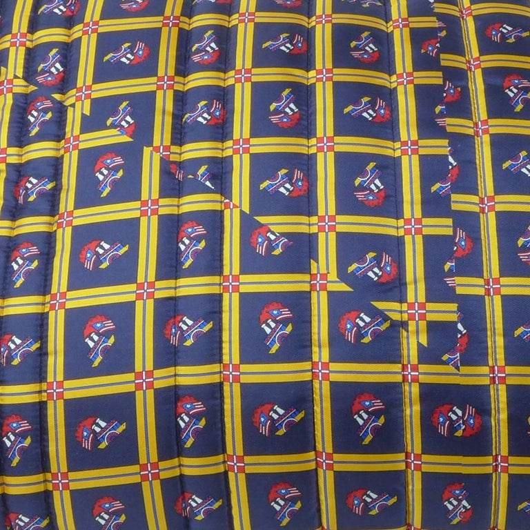 Quilted Silk Pillow Byborre and Piet Hein Eek For Sale 1
